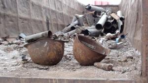 Град, Ураган, взрывные части, снаряды, АТО, Харьков, металлолом