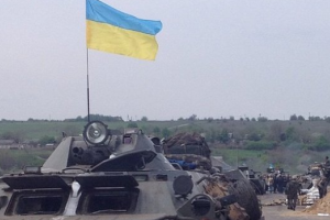 АТО, Енакиево, Ждановка, войска, флаг, выход, город