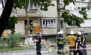 Киев, взрыв, происшествие, спасатели, пожар, Бурмистенко, утечка газа, газовый баллон, столица Украины, события, новости Киева, Украина, полиция