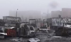аэропорт, донецк, донбасс, разруха, туман