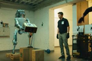 Boston Dynamics, сша, постановка, розыгрыш, робот