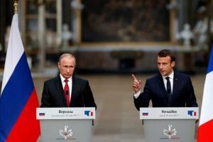 Франция, Россия, Эммануэль Макрон, Владимир Путин, Донбасс, Переговоры