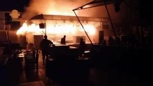 """пожар в Одессе, ресторан """"Пляжник"""", происшествия в Одессе"""