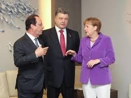 Порошенко, Меркель, Олланд, Донбасс, мирное, урегулирование, прекращение, огонь