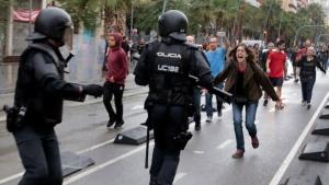 Референдум, Каталония, Испания, Резиновые пули, Дубинки, Полиция, Пострадавшие