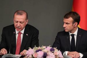 эрдоган, макрон, сирия, нато, война, турция, скандал, ссора