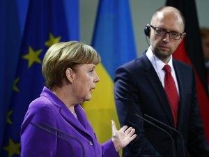 Меркель, Яценюк, Киев, встреча, сегодня