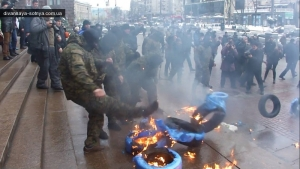 КГГА, киевская мэрия, акция протеста, повышение цен, городской транспорт, милиция