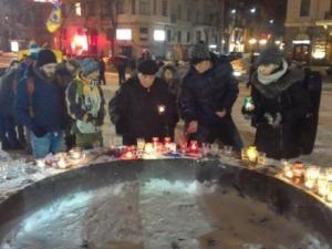 Харьков, Франция, теракт, память, погибшие, свечи, собрались, активисты