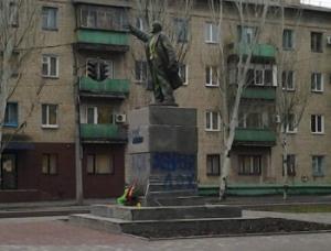 ленин, памятник, вандалы, мелитополь, запорожье