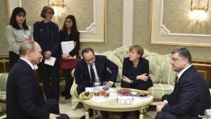 путин, порошенко, меркель, олланд, переговоры в минске, политика, донбасс, украина, россия, франция, германия, восток украины