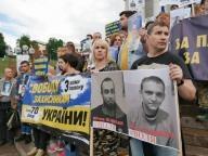 Марш, Свободу защитникам Украины, политзаключенные, заложники, пленные, Украина, Киев, Россия