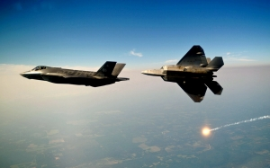 Россия, Норвегия, США, Учения, Самолеты, F-22 и F-35.