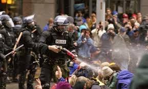 США, полиция, протестующие, задержание, газ, разгон