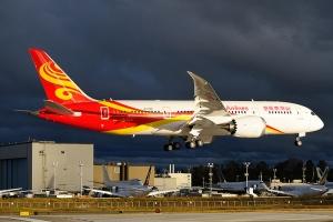 Китай, Boeing, Hainan Airlines, первый рейс на биотопливе