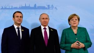 Россия, Путин, Макрон, Меркель, встреча, эксперт, политика Путина, результаты, мнение, вопрос Донбасса, война, решение