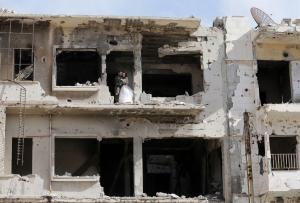 Сирия, война в Сирии, авиаудары, ВВС РФ, фотосессия, Хомс, молодожены, фото