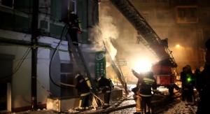 киев, происшествия, пожар, 100-летний дом, 90-летняя пенсионерка, видео, новости Украины