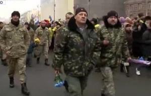 Батальон, Киев ,Майдан, парад, минута молчания, шествие