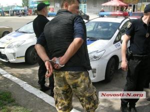 Николаев, Автовокзал, нацгвардия, травмат