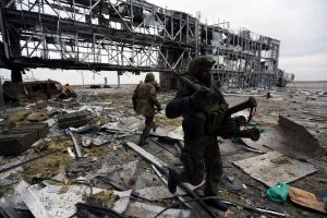 Аэропорт, Донецк, атака, ополчение, армия, бои, град