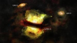 Скопление AzTEC-3, сша, рождение галактики, ученые