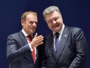 украина, евросоюз, порошенко, туск, безвизовый режим, происшествия, общество