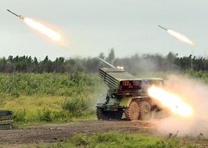 Луганск, обстрел, Град, мирные, колонна, беженцы