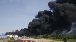 азербайждан, пожар, происшествия, завод, взрыв
