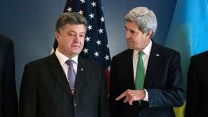 джон керри, петр порошенко, украина, сша, политика, киев