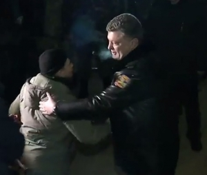 порошенко, освобожденные военные, донбасс