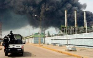 мексика, взрыв, завод, происшествия, видео