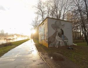 Россия, Санкт-Петербург, Питер, граффити, Чак Норрис, общество, культура, уличный арт