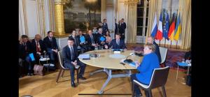 зеленский, путин, рукопожатие, нормандская встреча, париж, украина, россия, меркель, макрон