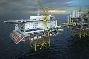 мир, Норвегия, нефть, буровая платформа, волна, Северное море