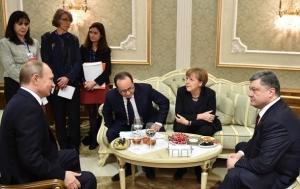 порошенко, меркель, олланд, путин, переговоры, огонь, донбасс, дебальцево