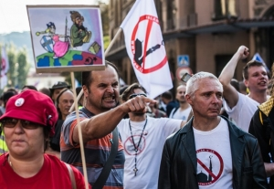 Европа, мигранты, акции, протесты, столица