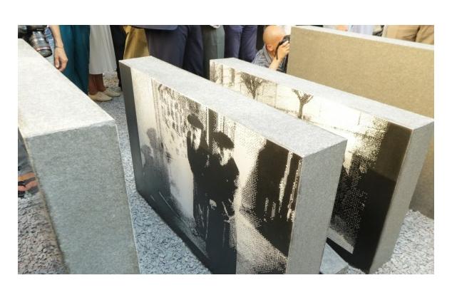 ВоЛьвове открыли мемориал наместе разрушенной синагоги «Золота Роза»