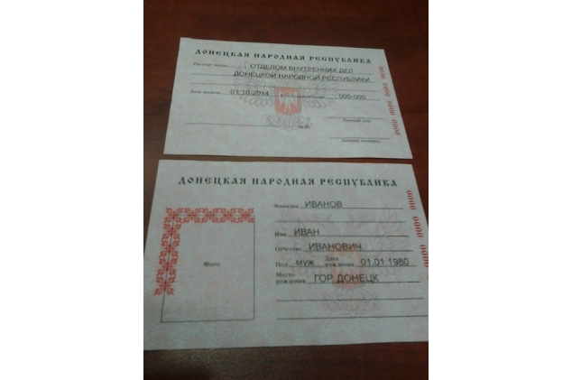 паспорт днр образец фото - фото 2