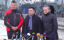 """Климкин с коллегами из Дании и Чехии вышел в Азовское море, заставив Кремль """"дать заднюю"""" - кадры"""