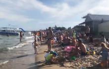 Такого еще не было на Азовском море: пляжи забиты, люди устали от карантина - видео