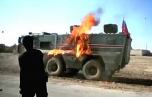 """Курды """"коктейлями Молотова"""" встретили российский патруль в Сирии"""
