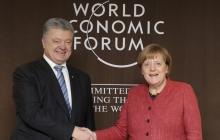 Петр Порошенко провел встречу с Ангелой Меркель на полях форума в Давосе