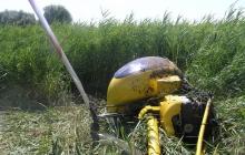 В Кременчуге во время учебного полета упал вертолет