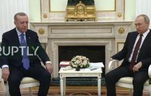 """""""Когда язык тела говорит больше слов"""", - появилось новое видео встречи Путина и Эрдогана"""