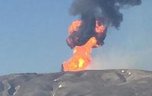 Вблизи Баку извергается масштабный грязевой вулкан Отман-Боздаг: появились кадры катастрофы, пламя достигает 300 м в высоту