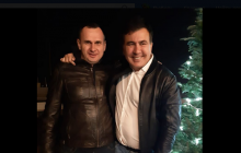 """Сенцов """"засветился"""" на новоселье у Саакашвили: """"Мы Вас теряем"""""""