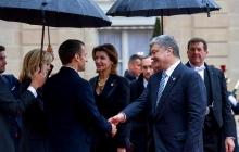 """Красивая чета Порошенко в Париже """"засветилась"""" с Макроном - соцсети в восторге"""