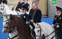 Путин прокатился на коне задом наперед: видео напуганной лошади, которая пятится назад с главой РФ, насмешило соцсети