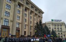 """""""Нет кровавому обмену!"""" - в Харькове люди вышли на протест против освобождения и обмена террористов, взорвавших мирную колонну противопехотной миной"""